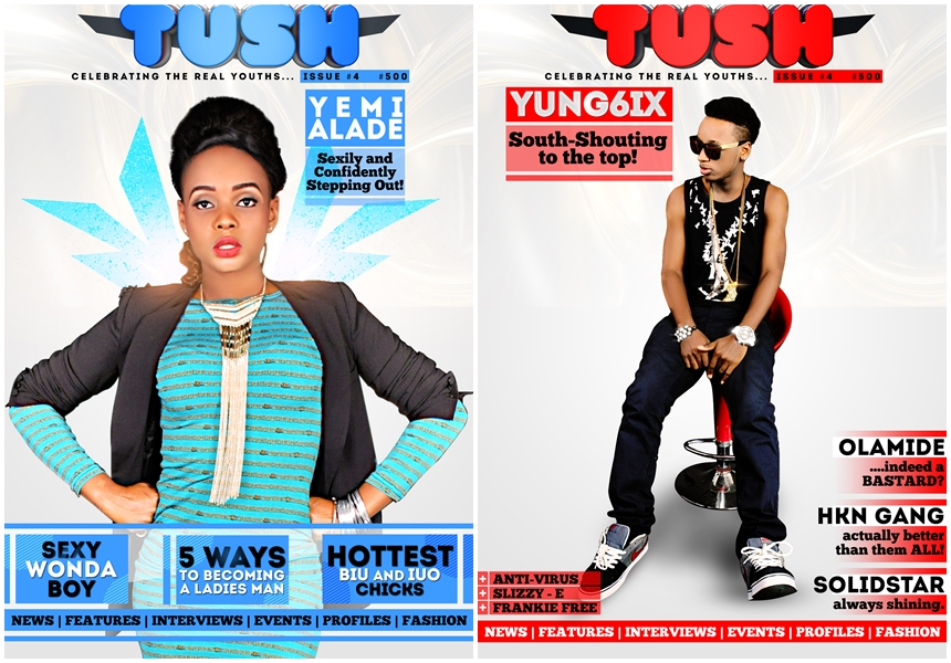 Yung6ix and Yemi Alade Grace Tush Magazine Issue 4 Cover Page