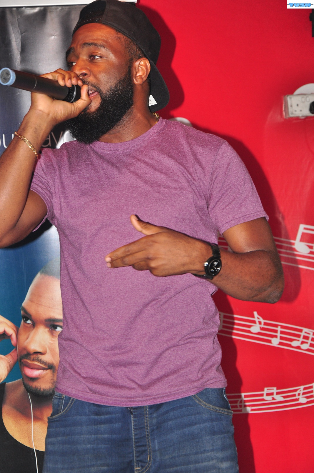 Exclusive Pictures: Tush Magazine Cover Star, Praiz Karaoke Session With Spinlet