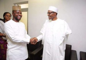 Debola Williams with President Buhari