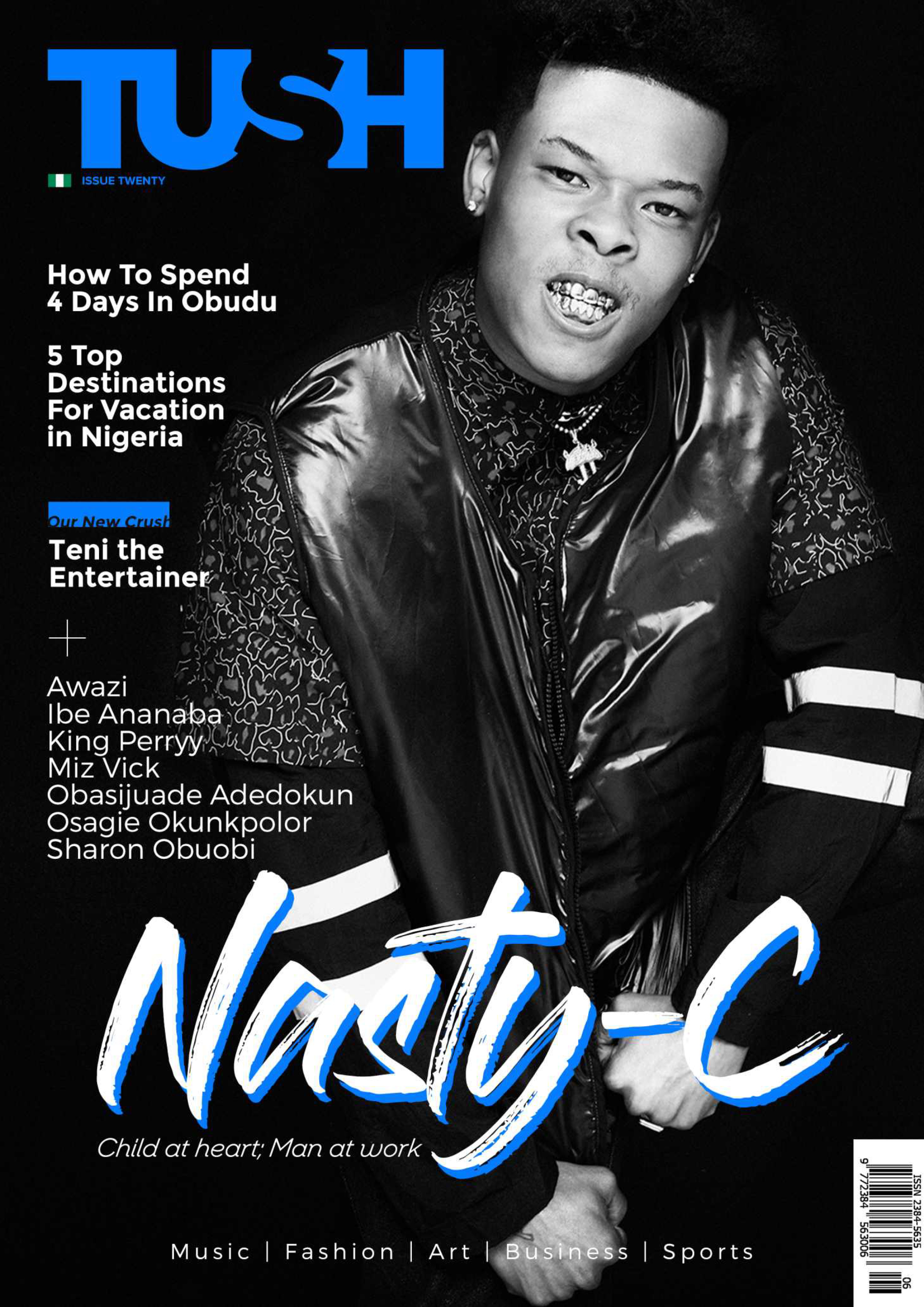 Nasty C, The Prince of African Hip-Hop Covers Tush Magazine Issue 20 As We Clock 6 Years