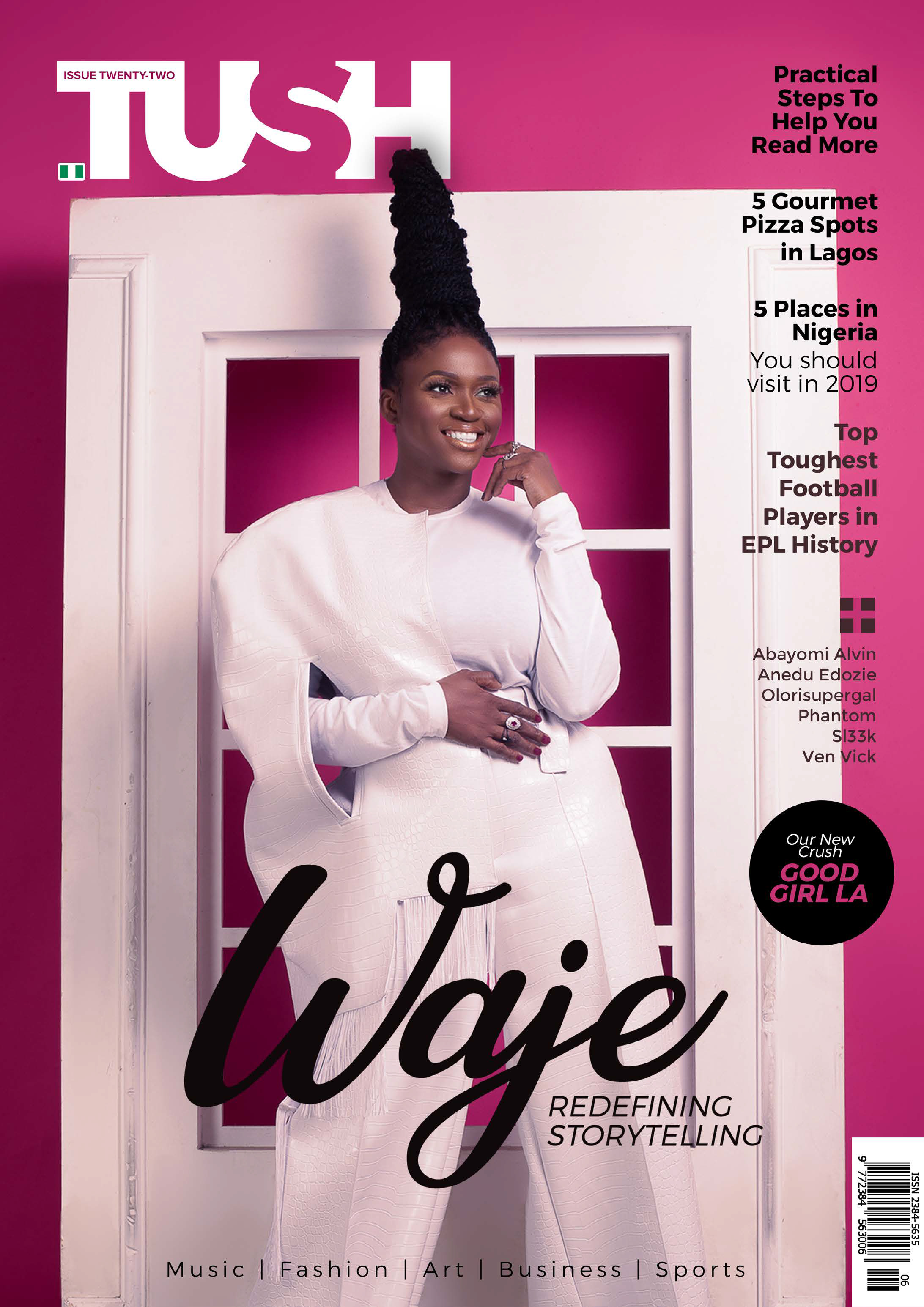 Waje Makes a Stunning Cover Appearance On The 22nd Issue Of Tush Magazine