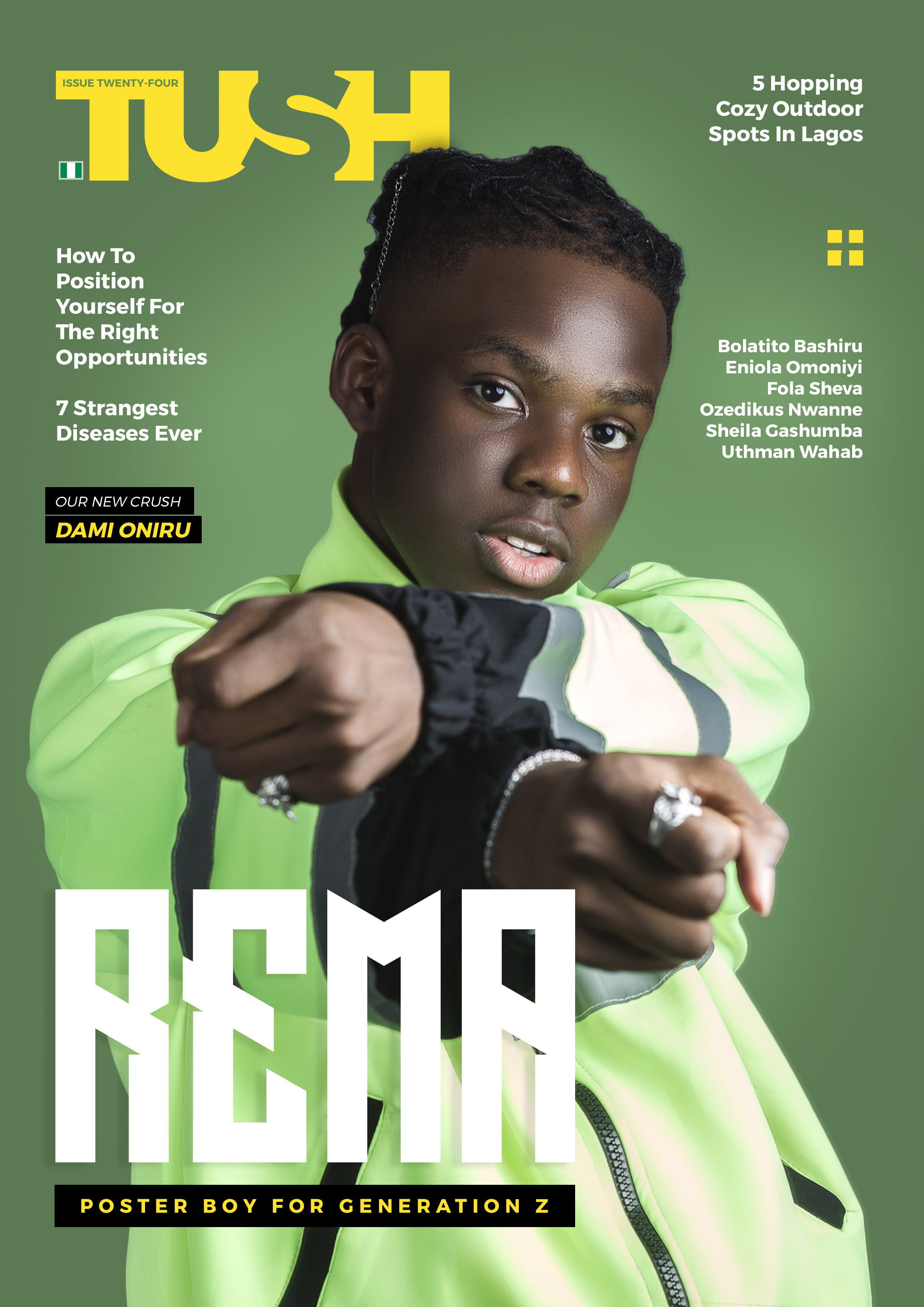 Rema Is Leading A New Generation As He Covers Tush Magazine's Summer Issue