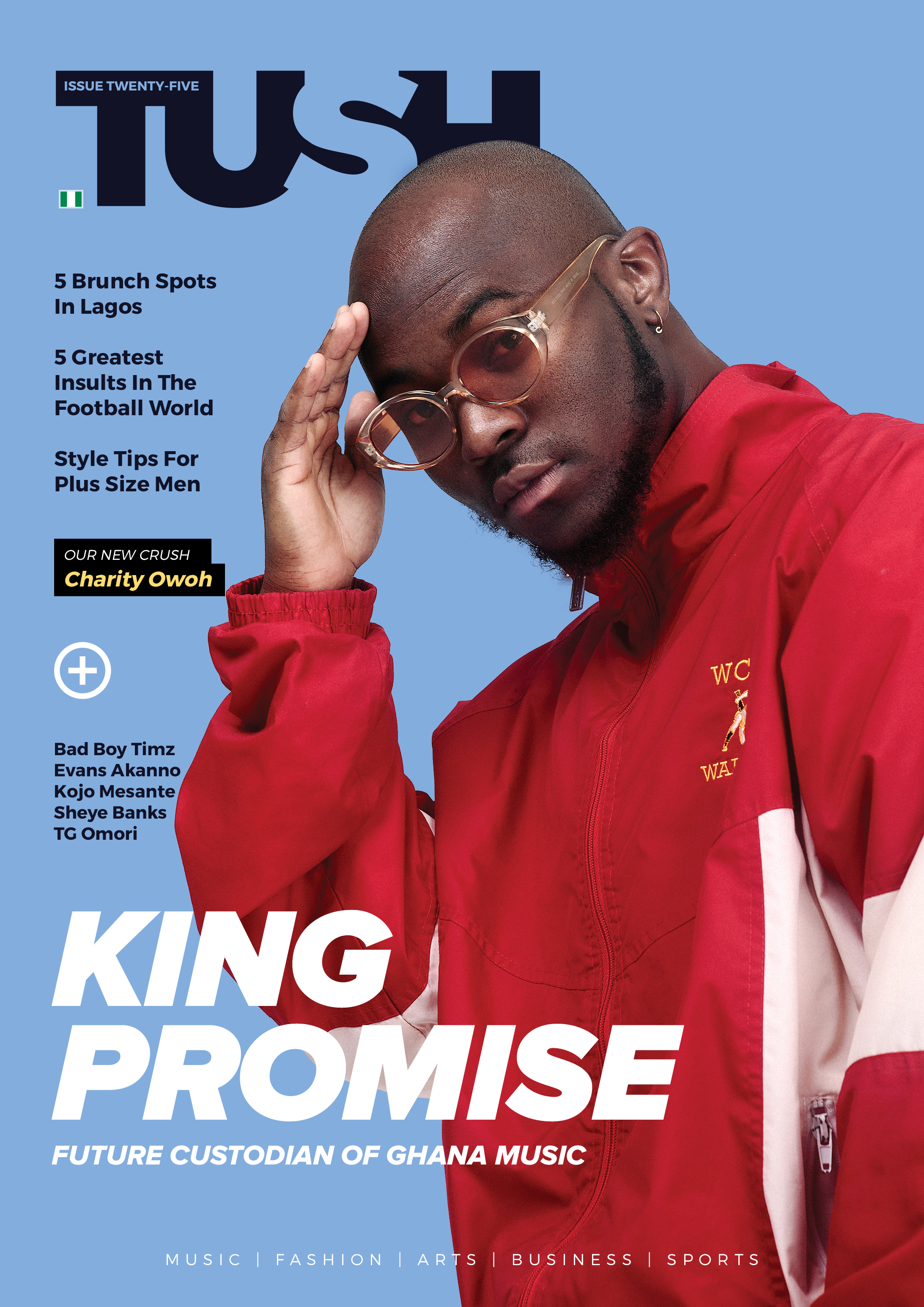 Ghanaian Superstar King Promise Covers 25th Issue of Tush Magazine
