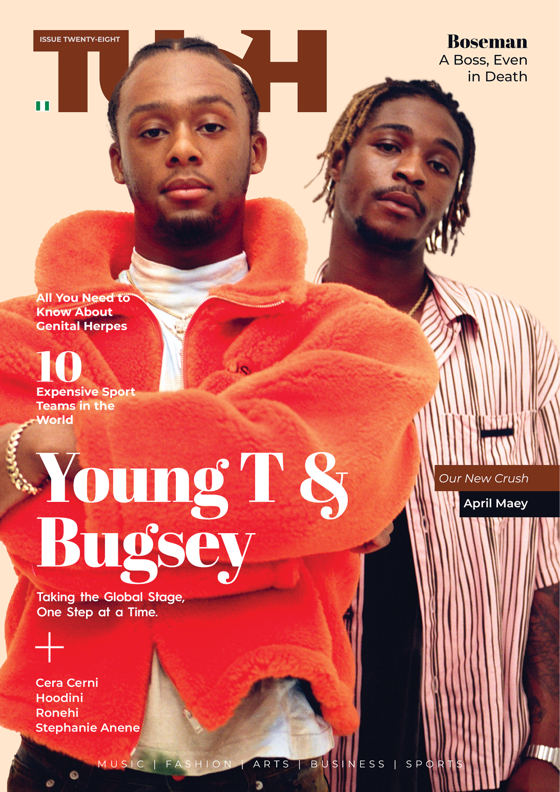 'Don't Rush' Crooners Young T & Bugsey and Jobaa Cover 28th Issue of Tush Magazine