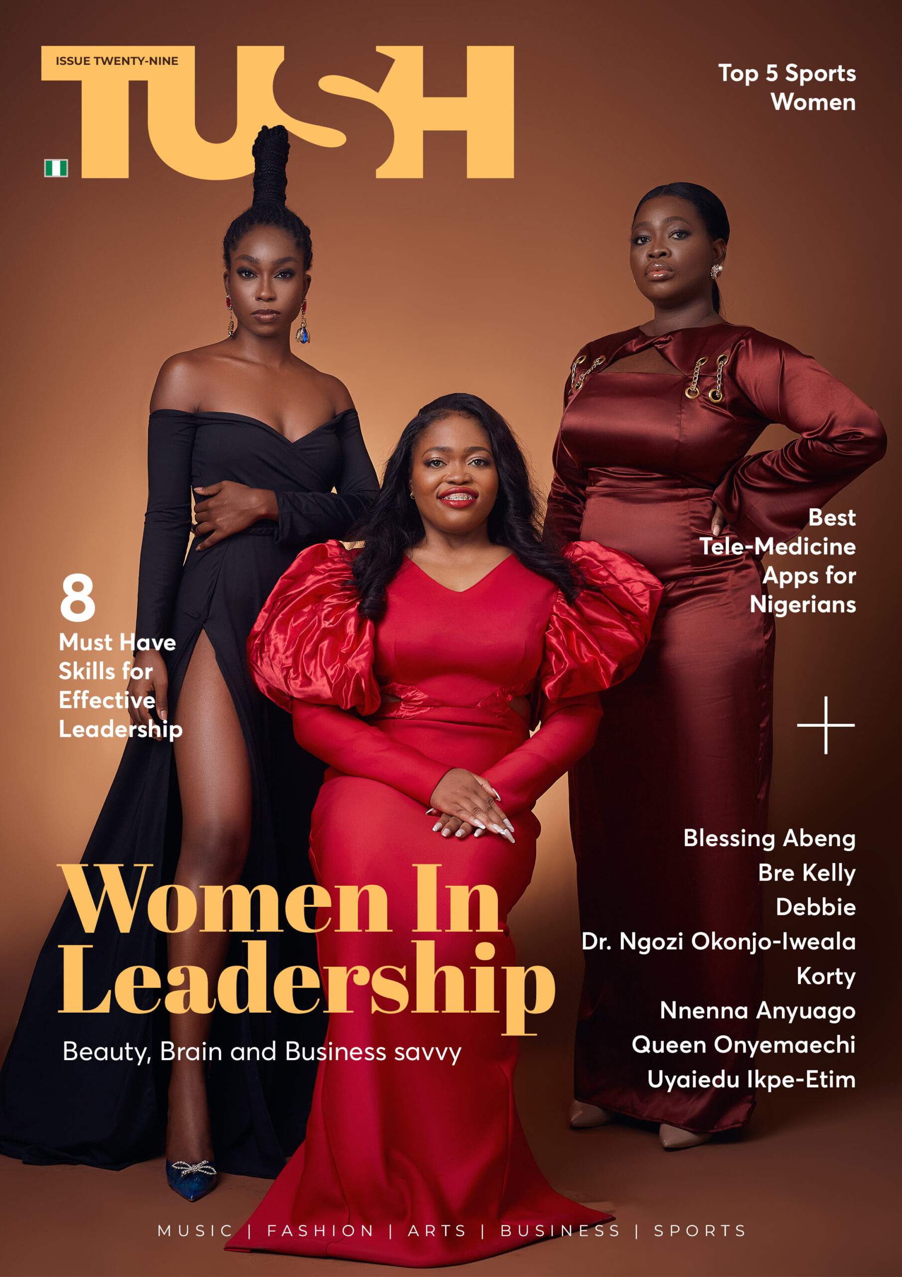 Tech Moguls, Damilola Odufuwa, Tosin Olaseinde and Damilola Olokesusi Cover Tush Magazine for IWD celebration
